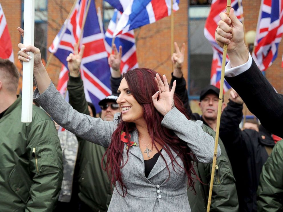 PHOTO: Jayda Fransen at a Britain First Rally in London, Nov. 4, 2017.