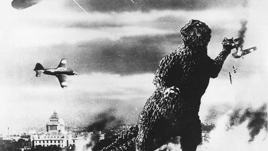 "PHOTO: A still from the 1954 film ""Godzilla,"" is shown."