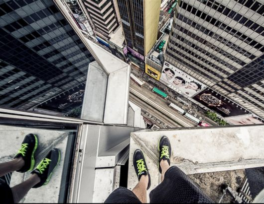 Don't Look Down! Daredevil Shoots Photos From Skyscrapers