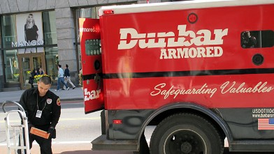 PHOTO: Dunbar Armored truck