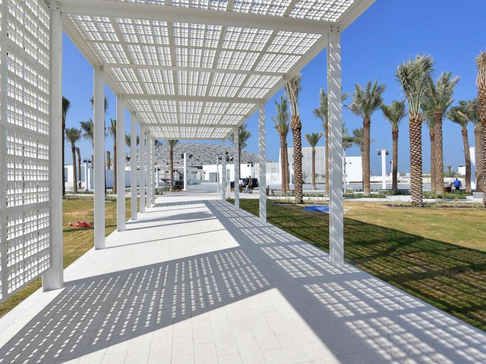 PHOTO: The grounds of the Louvre Abu Dhabi Museum designed by French architect Jean Nouvel, Nov. 7, 2017.