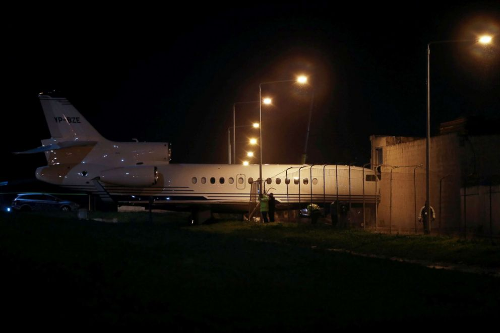 Strong winds blow parked plane from Malta airport into building