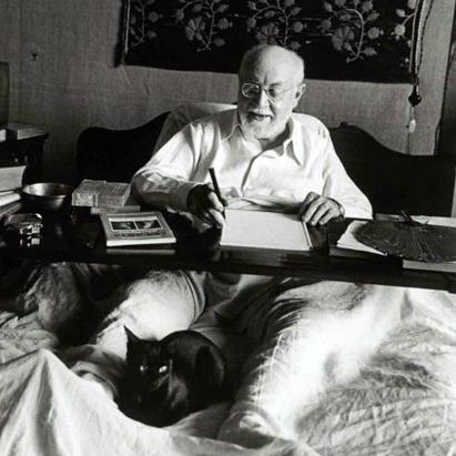 Famous Artists Photographed With Their Cats