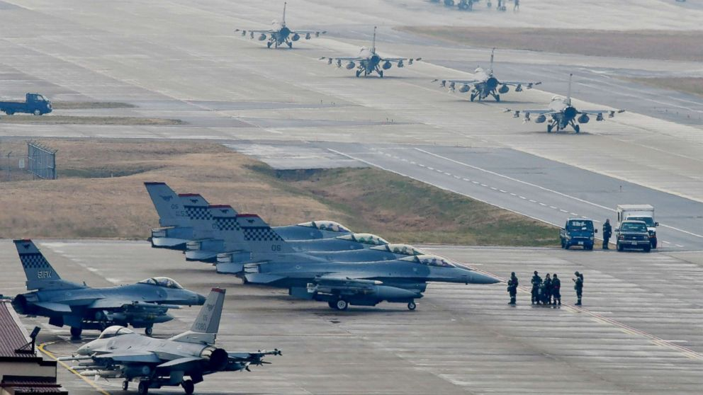 Large US military air exercise draws warning of 'nuclear war' from North Korea