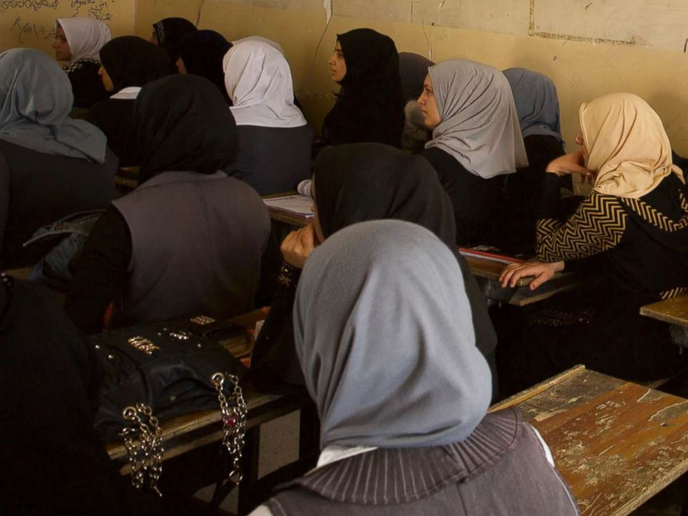 PHOTO: As the fighting is coming to an end West Mosul is slowly coming back to life. Here school girls at a school in West Mosul, Aug. 15, 2017.