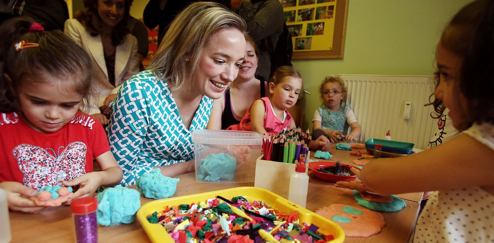 PHOTO: Kristina Schroeder playing with children