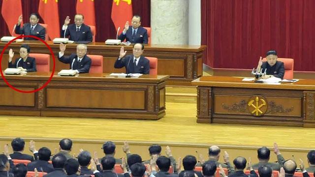 ΦΩΤΟ: ηγέτης της Βόρειας Κορέας Κιμ Γιονγκ-ουν, κέντρο, παρευρίσκεται σε συνεδρίαση της ολομέλειας της Κεντρικής Επιτροπής του Κόμματος των Εργατών της Κορέας στην Πιονγκγιάνγκ, 31 του Μάρτη του 2013.