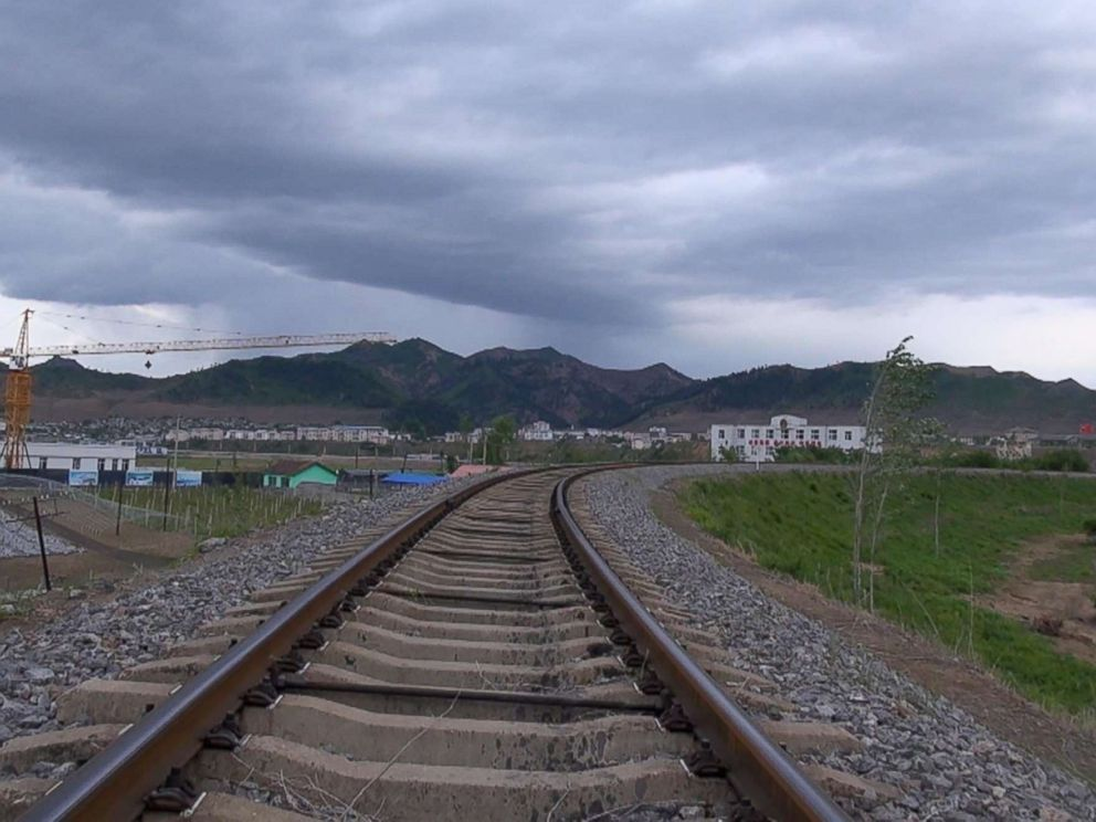 PHOTO: These train tracks in Jian, China run into North Korea but has reportedly sat unused since April amid escalating tensions on the Korean Peninsula.