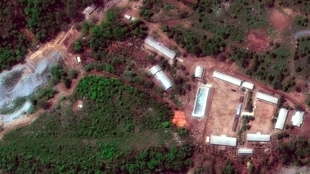 First photos purporting to show demolition of North Korean nuclear site unveiled