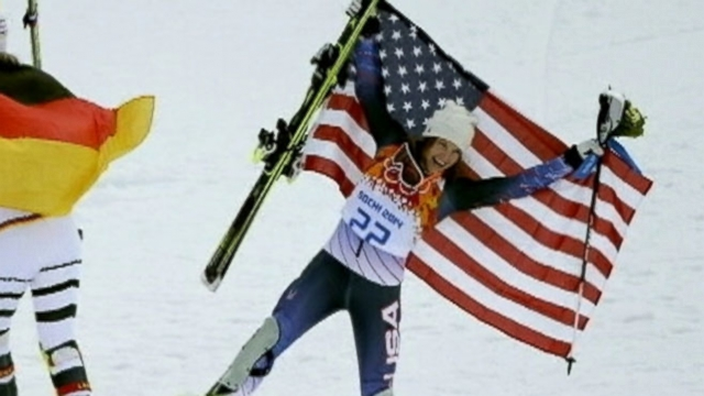 Julia Mancuso takes bronze in super-combined downhill; U.S. womens hockey beats Switzerland.