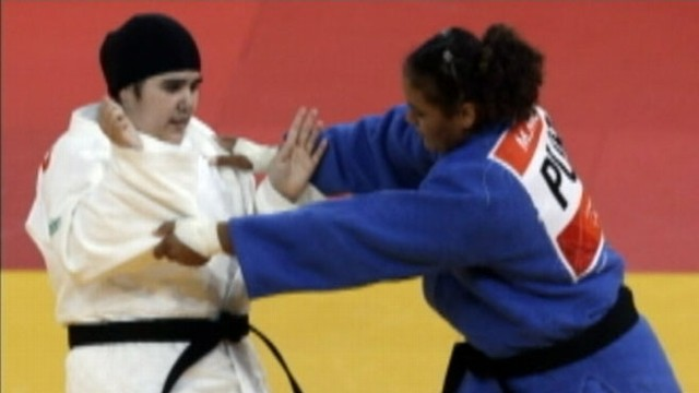 VIDEO: Judo competitor Wojdan Shahrkhani is Saudi Arabias first female athlete to compete in Olympics.