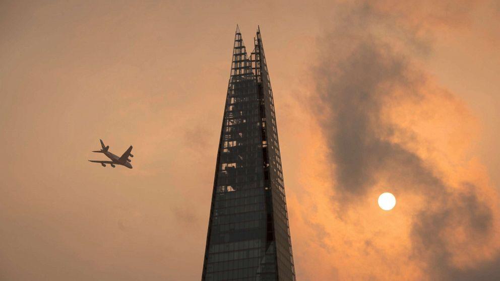 Skies above the UK, France  turn an eerie orange