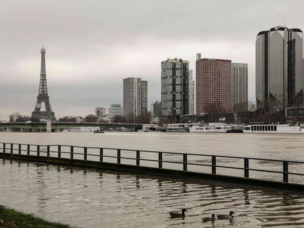 Images show the shocking scale of flooding in Paris