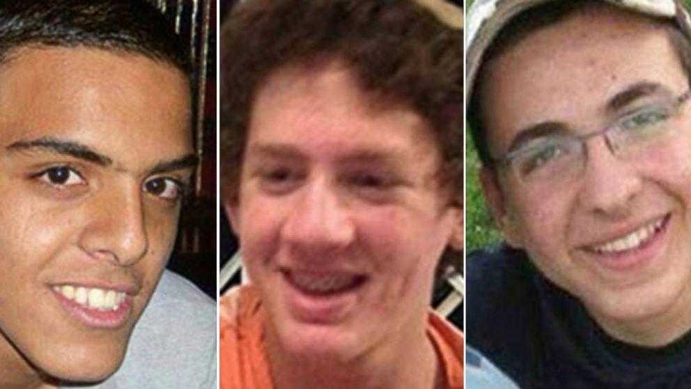PHOTO: Eyal Ylfrah, Naftali Frenkel, Gilad Shaer, are seen in these undated photos.