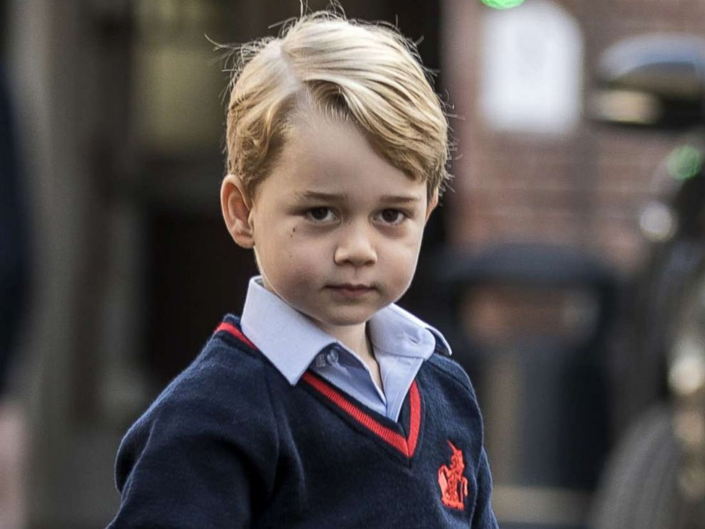 PHOTO: Britains Prince George arrives for his first day of school at Thomass school in Battersea, southwest London, Sept. 7, 2017.