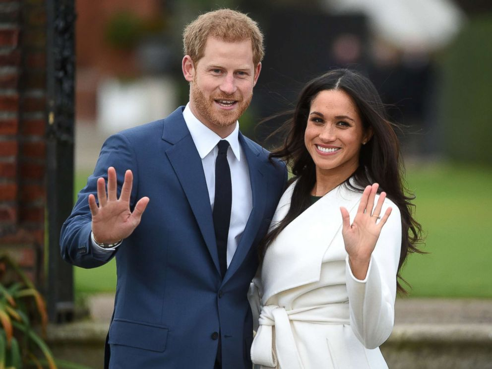 PHOTO: Britains Prince Harry poses with his fiancee Meghan Markle during a photocall after announcing their engagement in the Sunken Garden at Kensington Palace in London, Nov. 27, 2017.