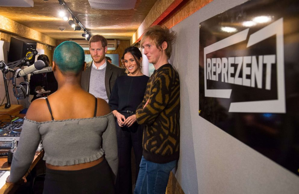 PHOTO: Britains Prince Harry and his fiancee Meghan Markle visit radio station Reprezent FM, in Brixton, London Jan. 9, 2018.