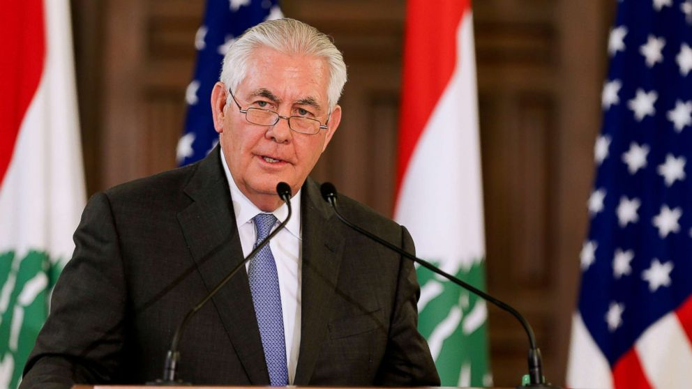 On Middle  East  trip, Tillerson navigates Trump's rhetoric, promises and regional role