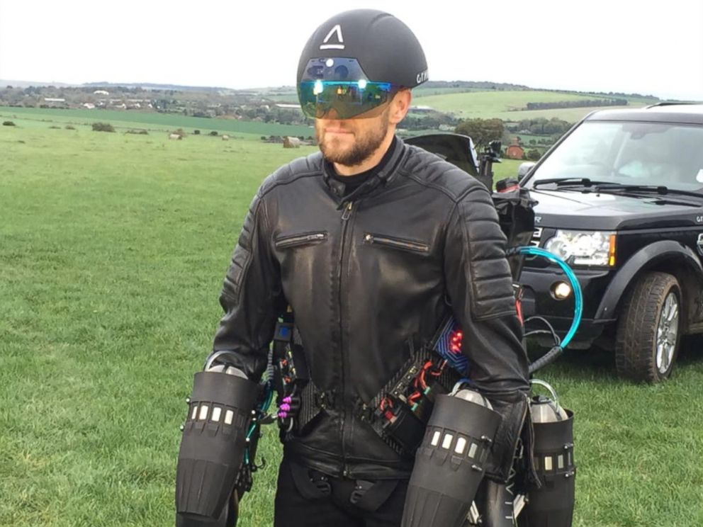 PHOTO: British inventor Richard Browning is a real-life Iron Man. He recently set a new world record for the fastest speed in a body controlled jet engine powered suit.