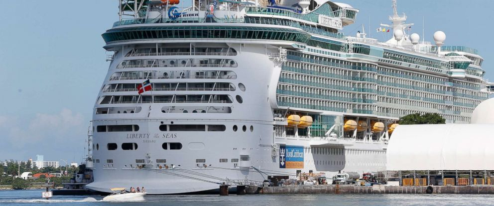 PHOTO: The Royal Caribbean International cruise ship Liberty of the Seas is docked on Aug. 29, 2017, in Miami.