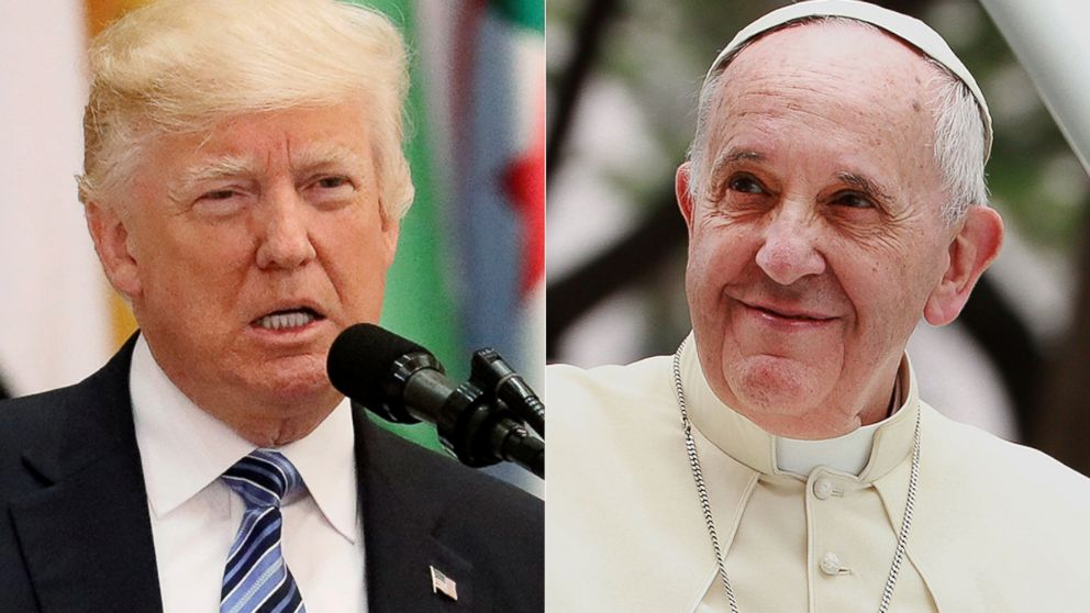 How the war-of-words between Trump and Pope Francis has evolved