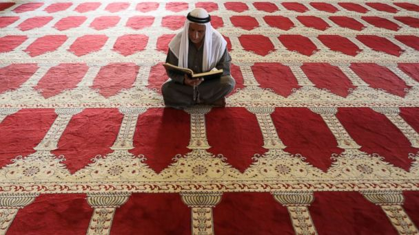 PHOTO: A Palestinian man prays inside al-Aqsa Mosque, the third holiest shrine in Islam, on the compound known to Muslims as al-Haram al-Sharif and to Jews as Temple Mount, in Jerusalem's Old City, May 10, 2017.