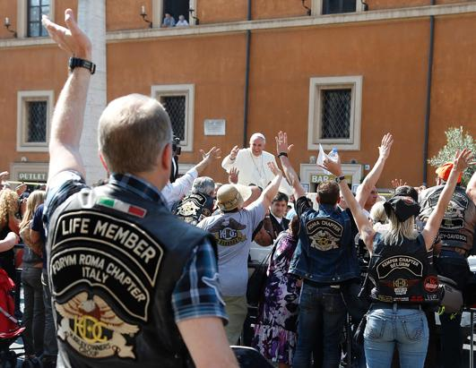 Pope Blesses Harley Davidson Bikers