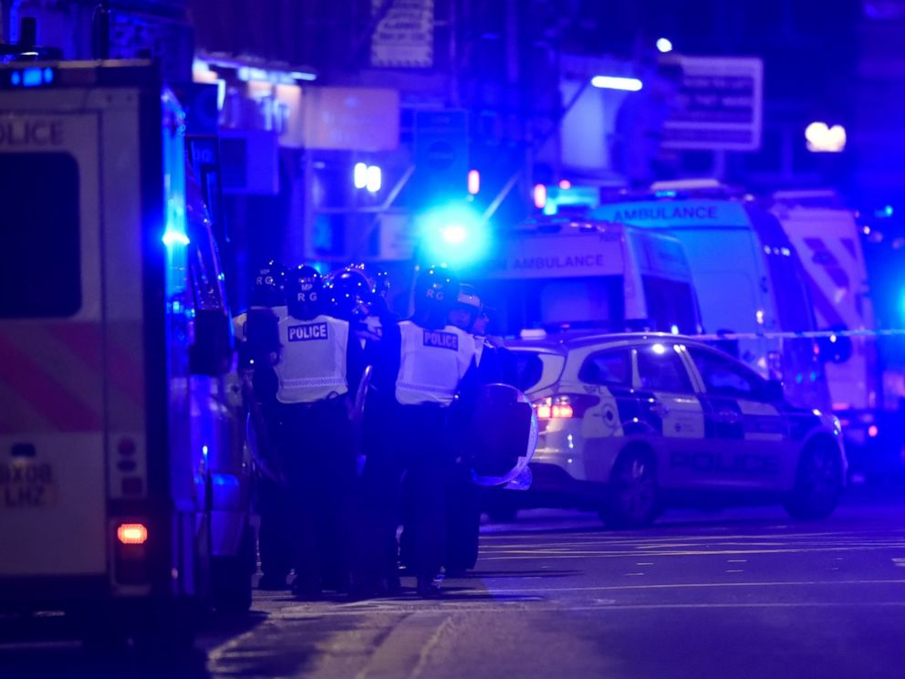 PHOTO: Police attend to an incident on London Bridge in London, on June 3, 2017.