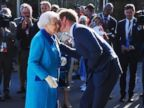 Prince Harry Gives His Grandmother a Kiss