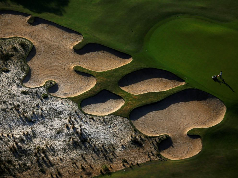 PHOTO: An aerial view shows the 2016 Rio Olympics golf venue in Rio de Janeiro, Brazil, July 16, 2016.