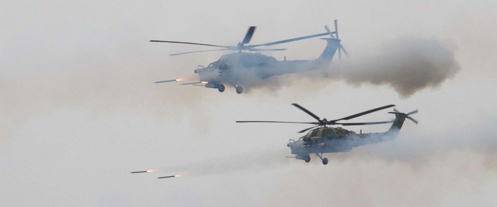 Russian helicopter mistakenly fires at bystanders during ...