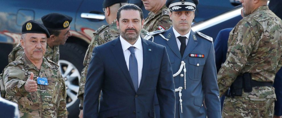 PHOTO: Saad al-Hariri, who announced his resignation as Lebanons prime minister from Saudi Arabia arrives to attend a military parade to celebrate the 74th anniversary of Lebanons independence in downtown Beirut, Lebanon, Nov. 22, 2017.
