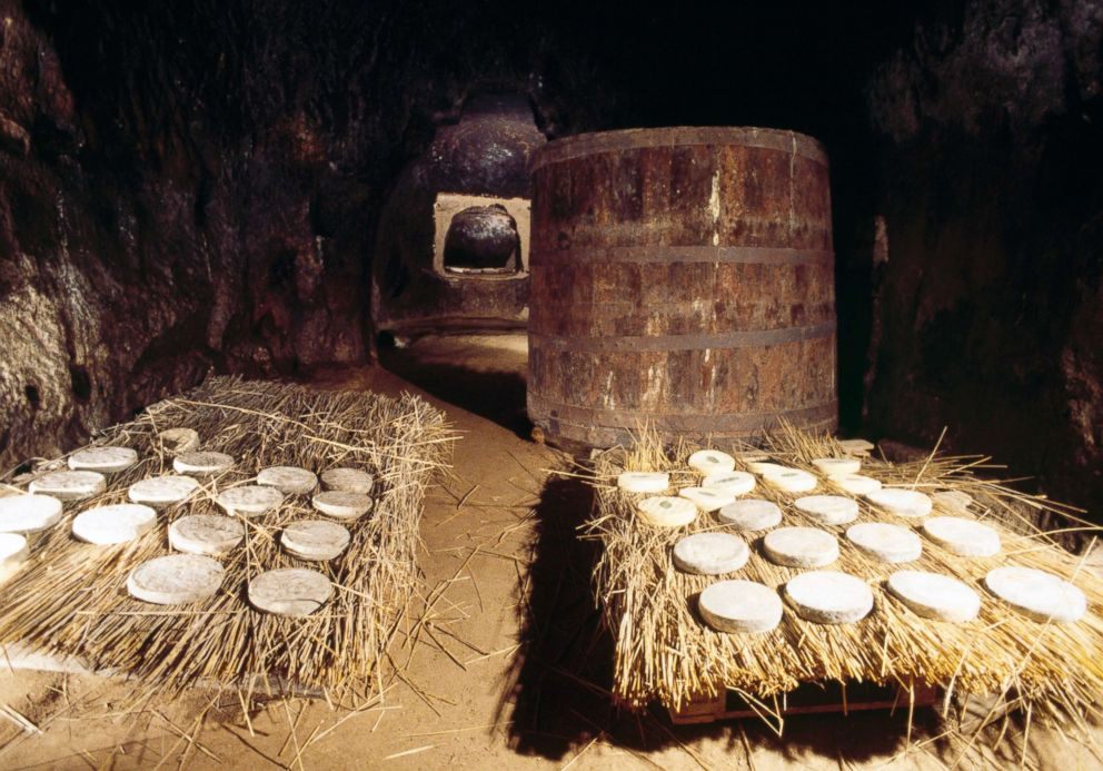 PHOTO: Aging of Saint Nectaire cheese, Puy-de-Dome, France.
