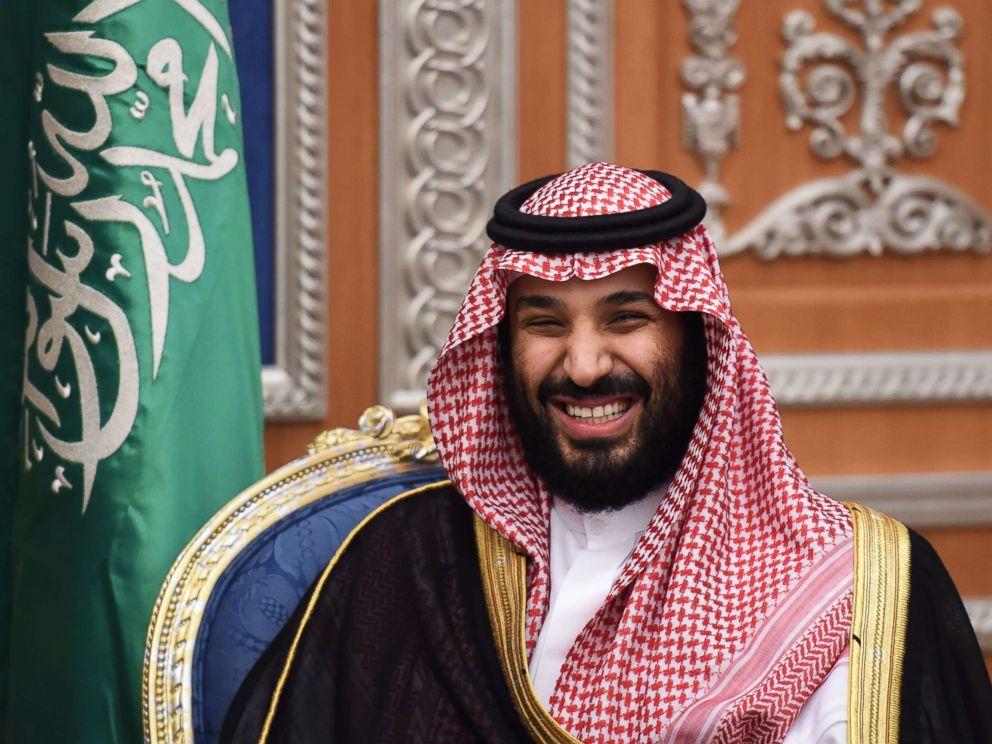 PHOTO: Saudi Crown Prince Mohammed bin Salman attends a meeting with Lebanons Christian Maronite patriarch, on Nov. 14, 2017, in Riyadh, Saudia Arabia.