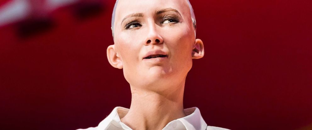 PHOTO: Sophia the Robot, attends Day 2 of the RISE Conference 2017, on July 12, in Hong Kong.