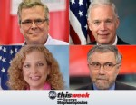 Gov. Jeb Bush, Sen. Ron Johnson, Rep. Debbie Wasserman Shultz and NY Times Columnist Paul Krugman