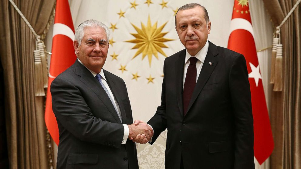 Tillerson , Turkish leaders play nice, but no concrete progress yet on tense relations