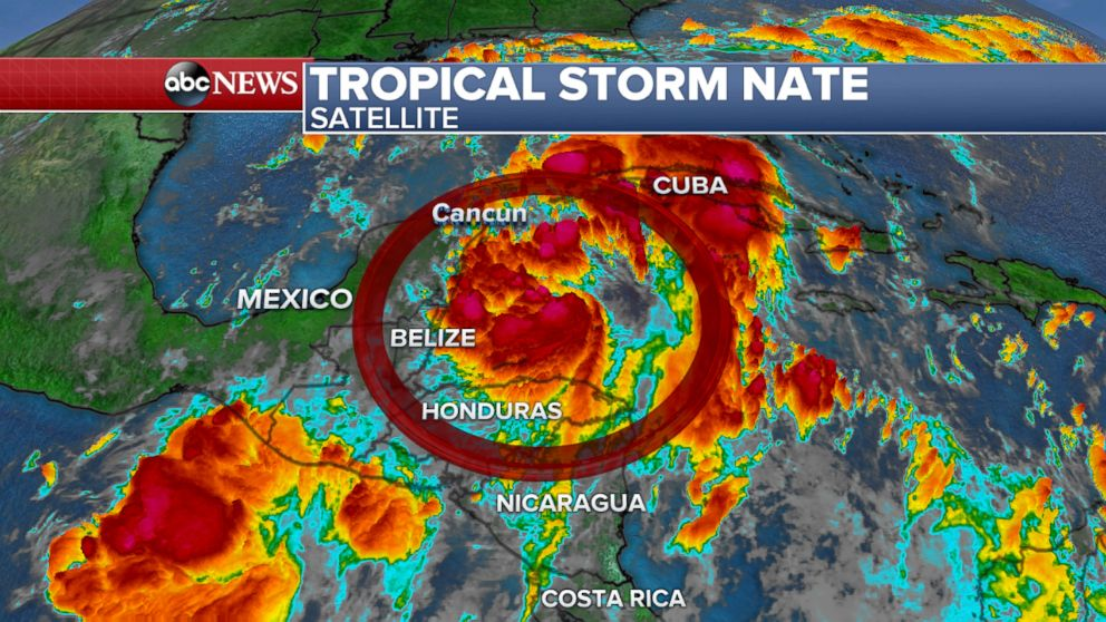 Hurricane Nate makes second landfall in USA as category one storm