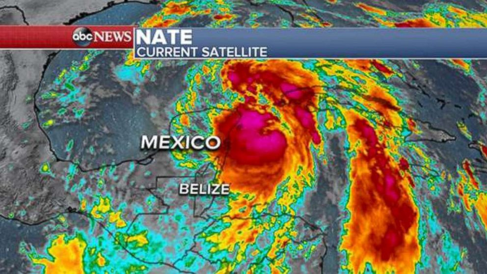 PHOTO: Tropical Storm Nate updated satellite imagery.