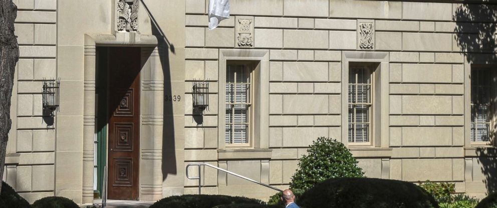 PHOTO: Exterior view of the Vatican Embassy/Apostolic Nunciature on Massachusetts avenue, where Pope Francis will be staying during his upcoming visit, Sept. 15, 2015, in Washington, D.C.