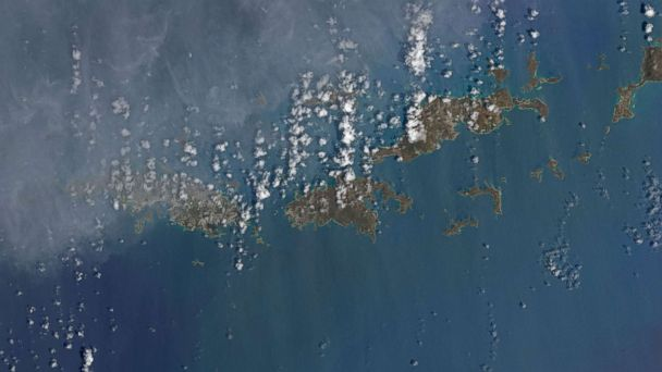 Astonishing Satellite Images Reveal Islands Stripped By Hurricane - Satellite map us