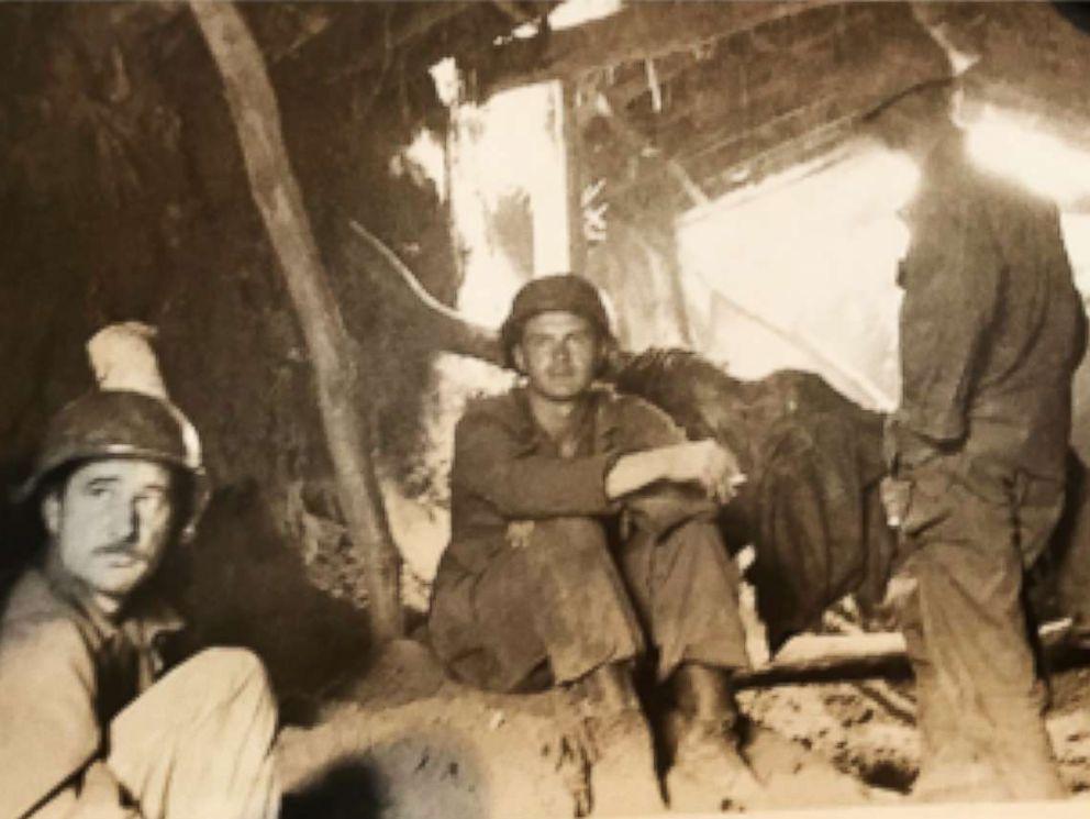 PHOTO: Volney Warner (center) as a lieutenant in the Korean War, in Korea, 1950.