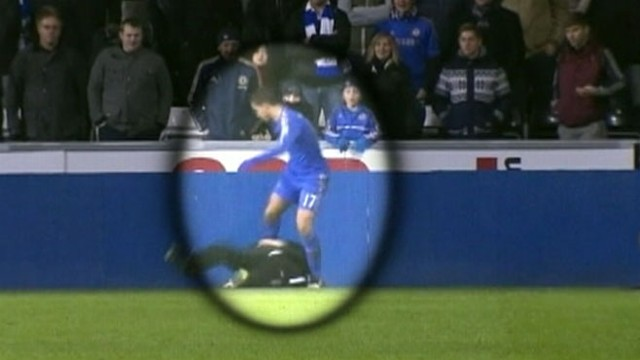 Video: Foul! Soccer Star Eden Hazard Kicks Ball Boy