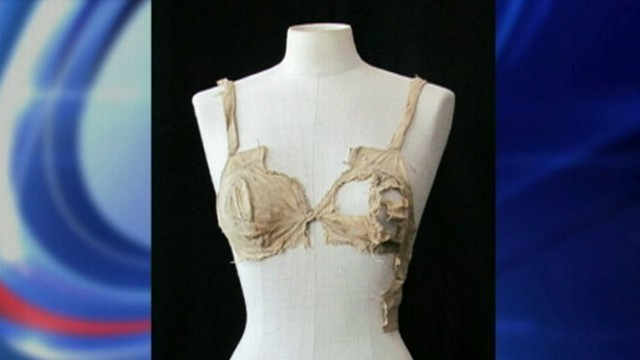 VIDEO: The four linen bras, some decorated with lace, date back to the 1400s.