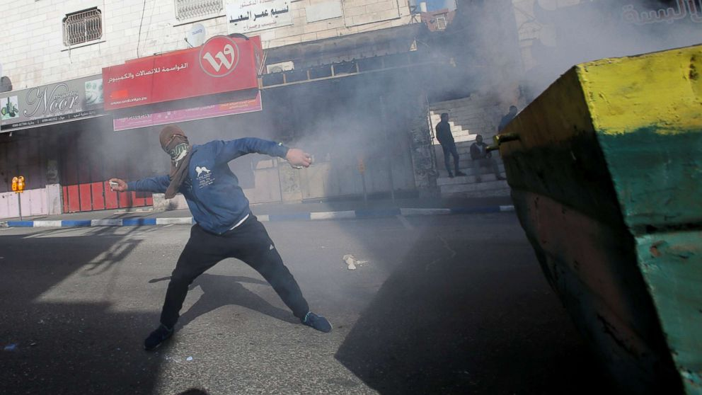 Palestinians call for a day of rage ahead of Vice President Pence's visit to Jerusalem