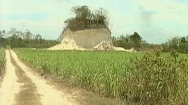 Video: Mayan Mess: Ancient Pyramid Destroyed by Road Crew