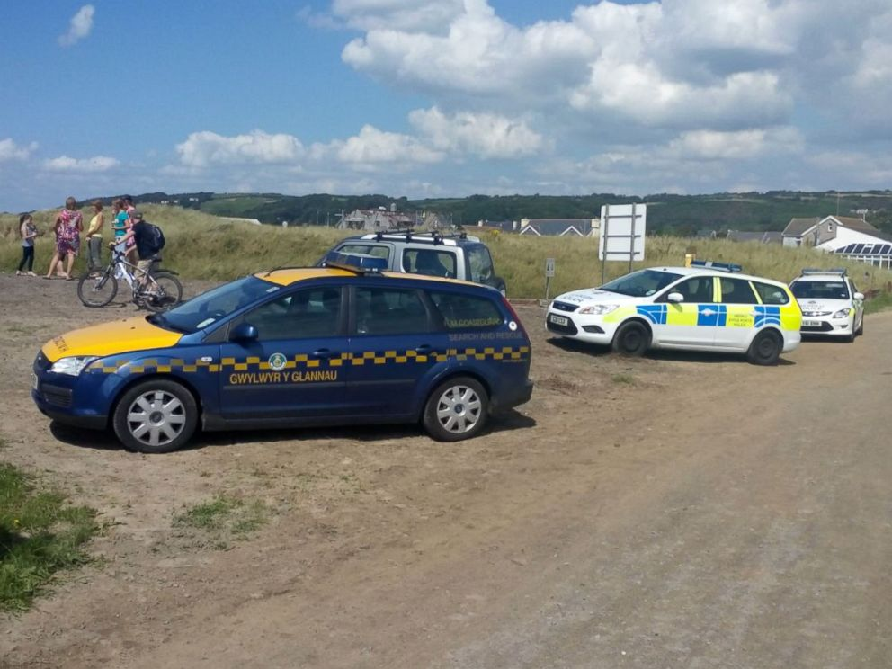 PHOTO: The bomb was detonated by local officials on Aug. 17, 2015 in front of a large crowd at Burry Port Harbour in South Wales.