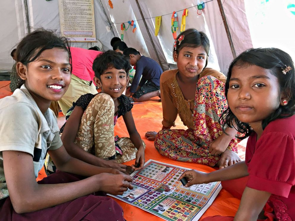 PHOTO: At one Save the Children site in Bangladesh, Rohingya children use play, art and dance to work through the trauma