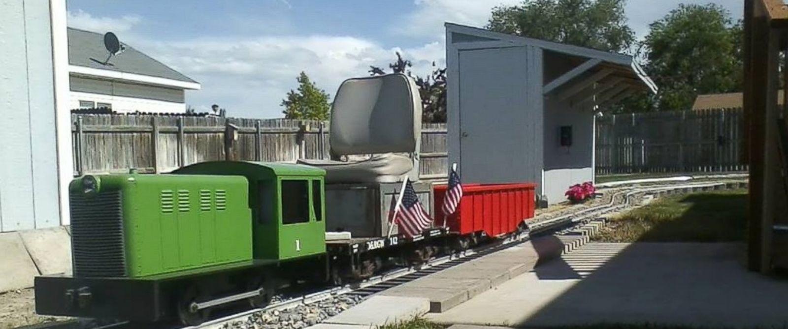 man builds 400 foot railroad in backyard because he 39 got a