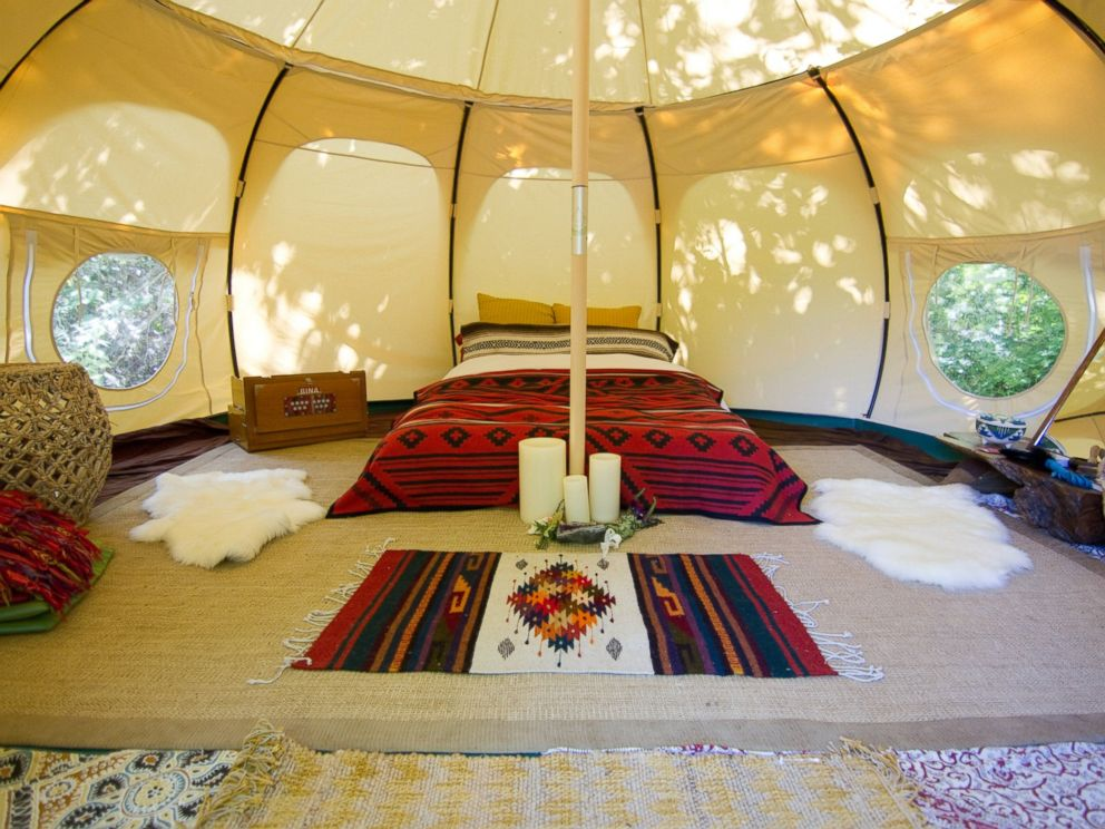 PHOTO: This luxury yurt tent is located in the middle of a vineyard in Sebastopol, Calif.